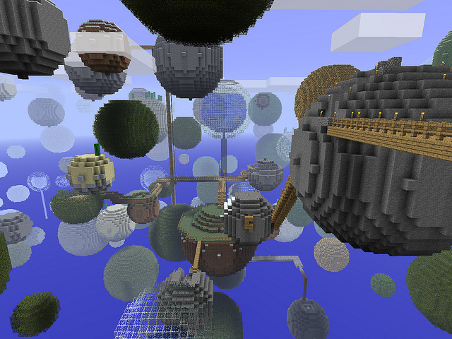 Minecraft, Planetoids, Mike Prosser, CC, Creative Commons, BY, Attribution, SA, Share Alike